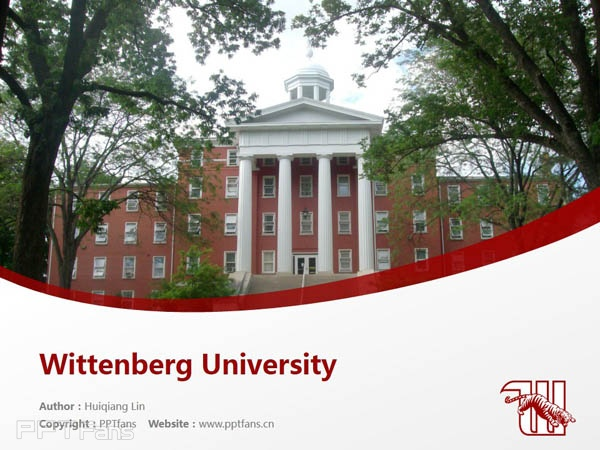 Wittenberg University powerpoint template download | 威腾堡大学PPT模板下载_slide1