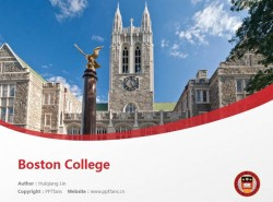 Boston College powerpoint template download | 波士顿学院PPT模板下载