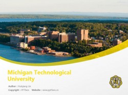 Michigan Technological University powerpoint template download | 密歇根理工大学PPT模板下载