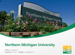 Northern Michigan University powerpoint template download | 北密歇根大学PPT模板下载