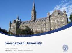 Georgetown University powerpoint template download | 乔治敦大学PPT模板下载