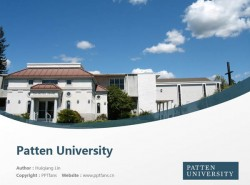 Patten University powerpoint template download | 佩丁大学PPT模板下载