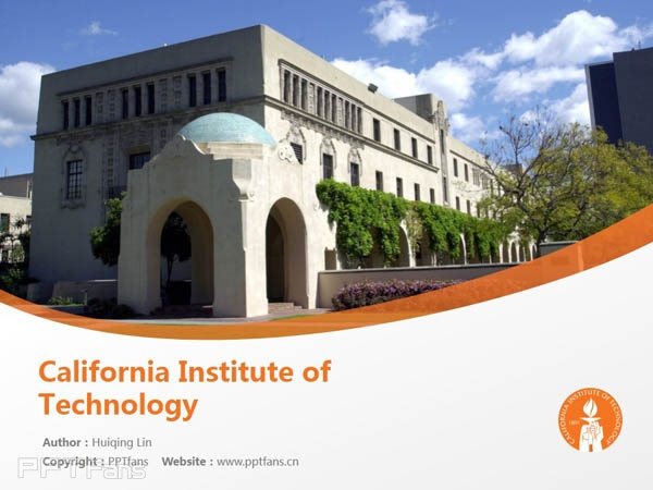 California Institute of Technology powerpoint template download | 加州理工学院PPT模板下载_slide0