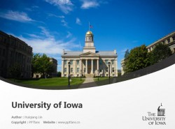 University of Iowa powerpoint template download | 爱荷华大学PPT模板下载