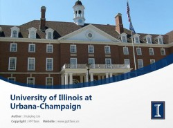 University of Illinois at Urbana-Champaign powerpoint template download | 伊利诺斯大学香槟分校PPT模板下载