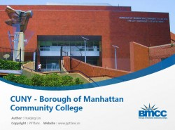 CUNY – Borough of Manhattan Community College powerpoint template download | 纽约城市大学曼哈顿社区学院PPT模板下载