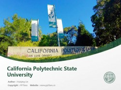 California Polytechnic State University powerpoint template download | 加州州立理工大学PPT模板下载