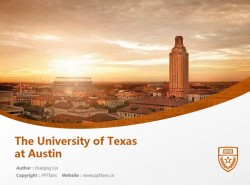 The University of Texas at Austin powerpoint template download | 德克萨斯大学奥斯汀分校PPT模板下载