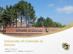 University of Colorado at Denver powerpoint template download | 科罗拉多大学丹佛分校PPT模板下载
