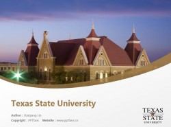 Texas State University powerpoint template download | 德克萨斯州立大学PPT模板下载