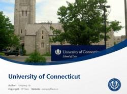 University of Connecticut powerpoint template download | 康涅狄格大学PPT模板下载