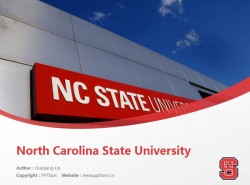 North Carolina State University powerpoint template download | 北卡罗莱纳州立大学PPT模板下载