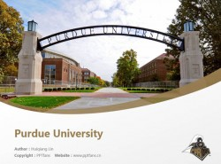 Purdue University powerpoint template download | 普渡大学西拉法叶分校PPT模板下载