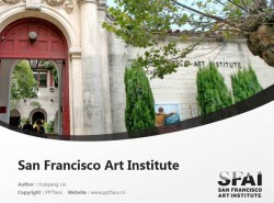 San Francisco Art Institute powerpoint template download | 旧金山艺术学院PPT模板下载