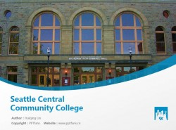 Seattle Central Community College powerpoint template download | 西雅图中央学院PPT模板下载