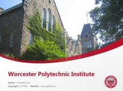 Worcester Polytechnic Institute powerpoint template download | 伍斯特理工学院PPT模板下载