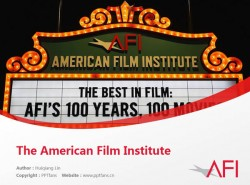 The American Film Institute powerpoint template download | 美国电影学院PPT模板下载
