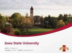 Iowa State University powerpoint template download | 爱荷华州立大学PPT模板下载