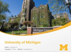 University of Michigan powerpoint template download | 密歇根大学PPT模板下载