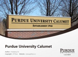 Purdue University Calumet powerpoint template download | 普渡大学卡鲁梅分校PPT模板下载