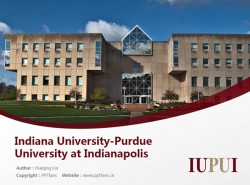 Indiana University-Purdue University at Indianapolis powerpoint template download | 印第安纳大学-普渡大学印第安纳波利斯分校PPT模板下载