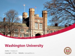 Washington University powerpoint template download | 圣路易斯华盛顿大学PPT模板下载