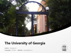 The University of Georgia powerpoint template download | 乔治亚大学PPT模板下载