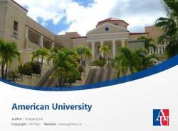 American University powerpoint template download | 美国大学PPT模板下载