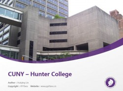 CUNY – Hunter College powerpoint template download | 纽约城市大学亨特学院PPT模板下载