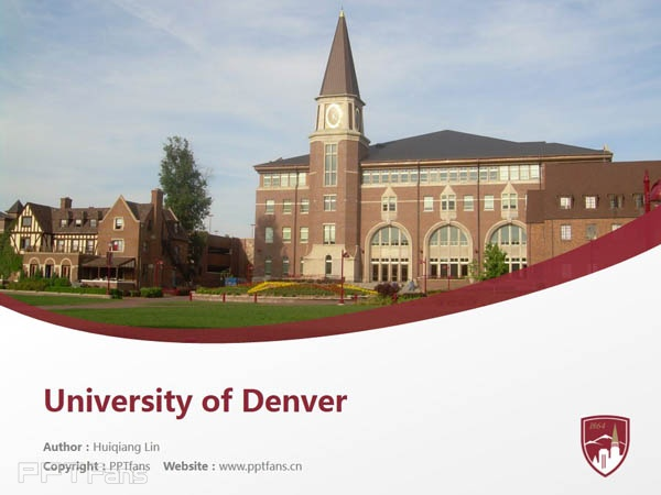 University of Denver powerpoint template download | 丹佛大学PPT模板下载_slide1