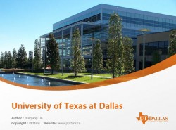 University of Texas at Dallas powerpoint template download | 德克萨斯大学达拉斯分校PPT模板下载