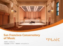 San Francisco Conservatory of Music powerpoint template download | 旧金山音乐学院PPT模板下载