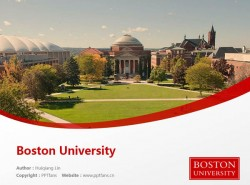 Boston University powerpoint template download | 波士顿大学PPT模板下载