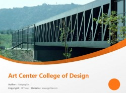 Art Center College of Design powerpoint template download | 艺术中心设计学院PPT模板下载