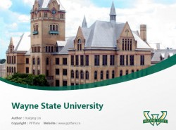 Wayne State University powerpoint template download | 韦恩州立大学PPT模板下载