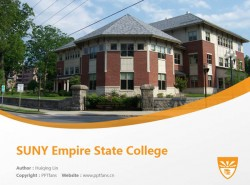 SUNY Empire State College powerpoint template download | 纽约州立大学帝国州立学院PPT模板下载