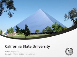 California State University powerpoint template download | 加州州立大学弗雷斯诺分校PPT模板下载