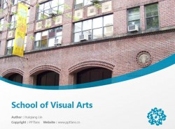 School of Visual Arts powerpoint template download | 视觉艺术学校PPT模板下载