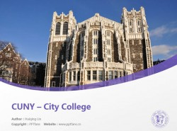 CUNY – City College powerpoint template download | 纽约城市大学城市学院PPT模板下载