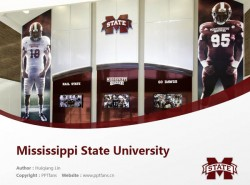 Mississippi State University powerpoint template download | 密西西比州立大学PPT模板下载