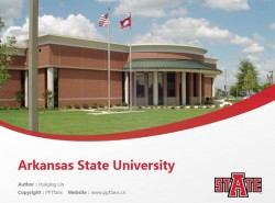 Arkansas State University powerpoint template download | 阿肯色州立大学PPT模板下载