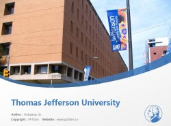 Thomas Jefferson University powerpoint template download | 托马斯杰斐逊大学PPT模板下载