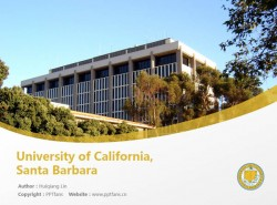 University of California, Santa Barbara powerpoint template download | 加州大学圣芭芭拉分校PPT模板下载