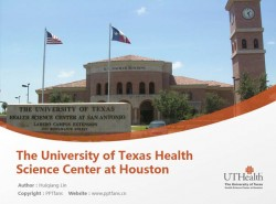 The University of Texas Health Science Center at Houston powerpoint template download | 德克萨斯大学休斯顿健康科学中心PPT模板下载