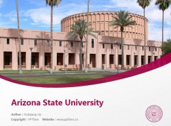 Arizona State University powerpoint template download | 亚利桑那州立大学PPT模板下载