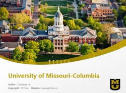 University of Missouri-Columbia powerpoint template download | 密苏里大学哥伦比亚分校PPT模板下载