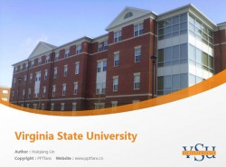 Virginia State University powerpoint template download | 弗吉尼亚州立大学PPT模板下载