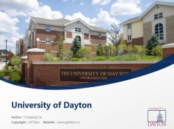 University of Dayton powerpoint template download | 代顿大学PPT模板下载