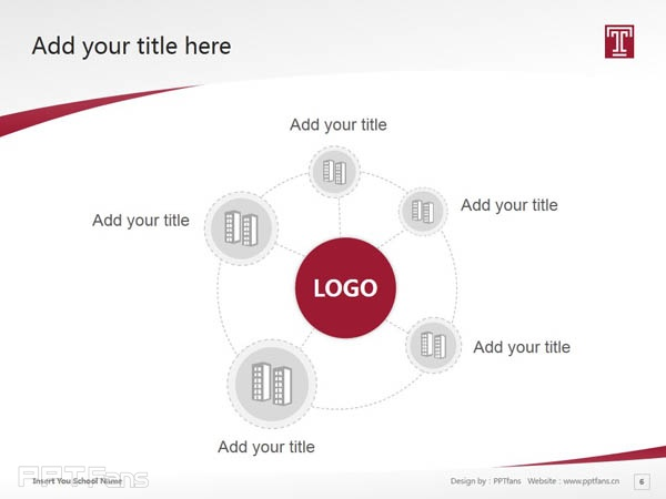 Temple University powerpoint template download | 天普大学PPT模板下载_slide7