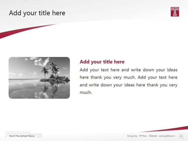 Temple University powerpoint template download | 天普大学PPT模板下载_slide3